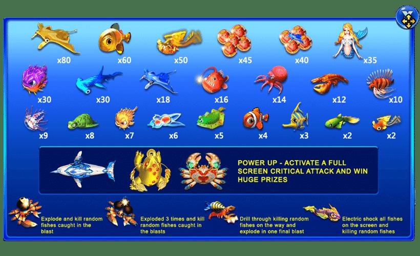 อัตราการจ่ายHAPPY FISH 5
